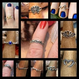 2 FOR $30.00 STERLING SILVER TOE RINGS